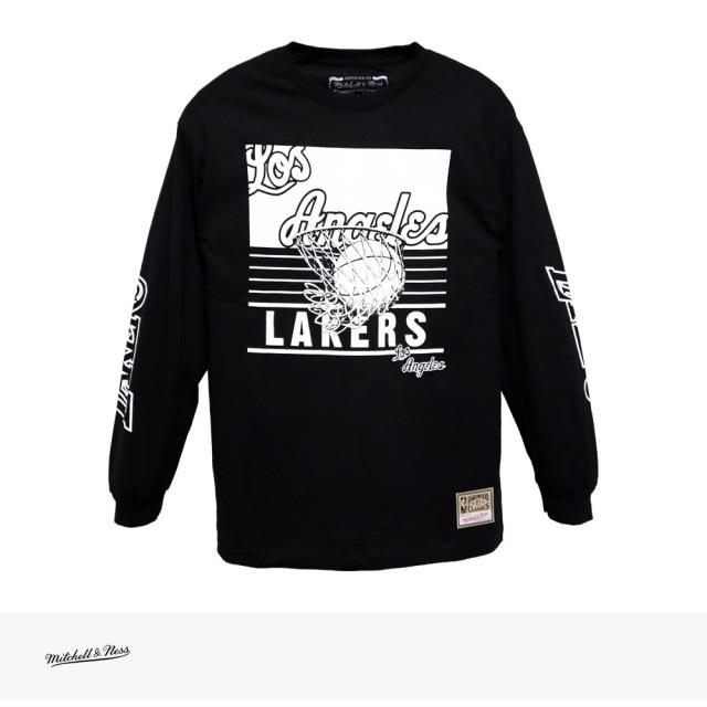 Mitchell & Ness NBA BIG FACE 3.0 LONG SLEEVE TEE LOS ANGELES LAKERS / ミッチェルアンドネス Tシャツ