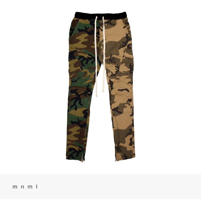 mnml PANELED CARGO DRAWCORD PANTS | WOODLAND/DESERT CAMO / ミニマル パンツ