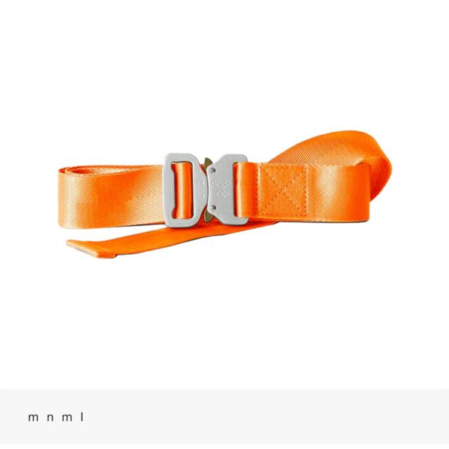 mnml WEB BELT   ORANGE / ミニマル ベルト