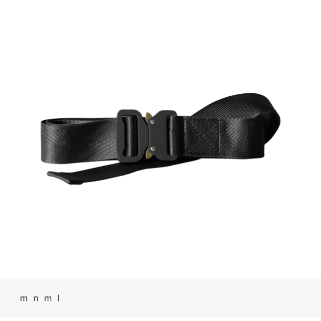 mnml WEB BELT | BLACK / ミニマル ベルト