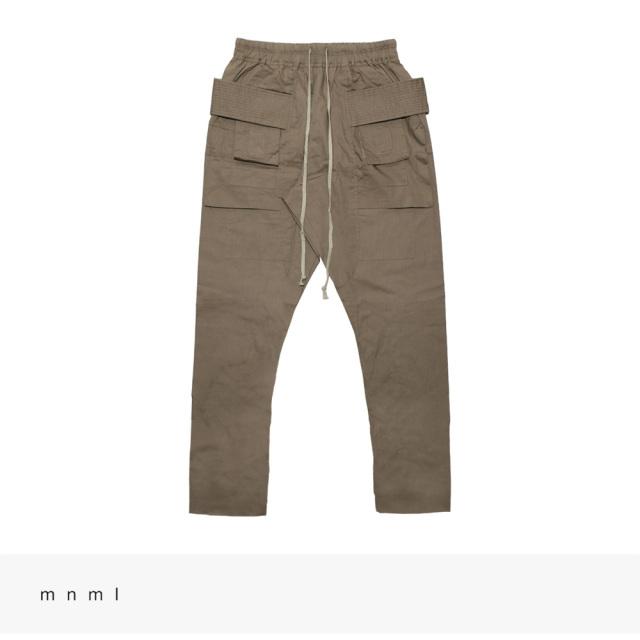 mnml DROP CROTCH CARGO PANTS | STONE / ミニマル パンツ