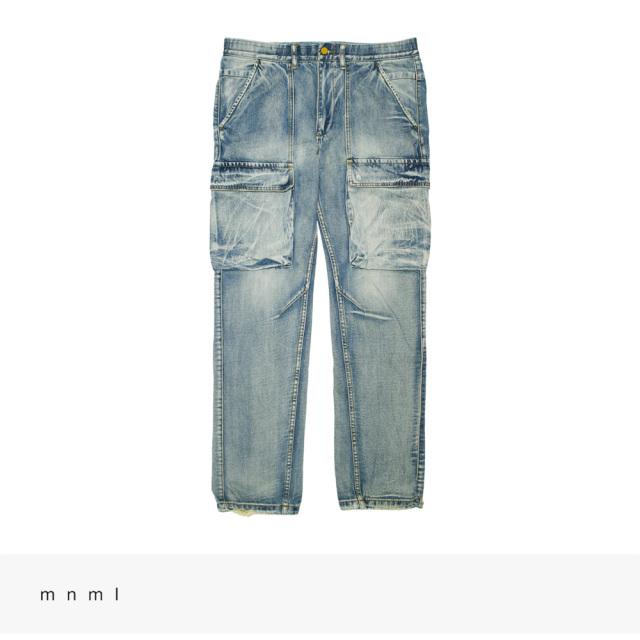 mnml V216 DENIM CARGO PANTS | VINTAGE BLUE / ミニマル パンツ