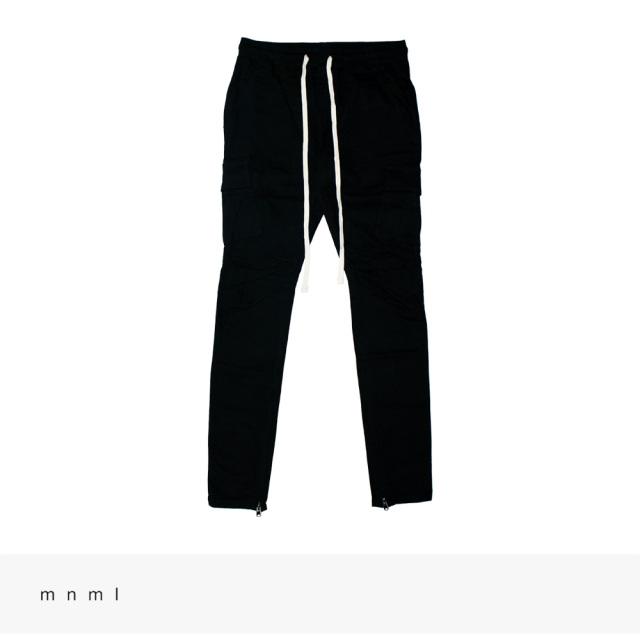 mnml CARGO DRAWCORD PANTS | BLACK / ミニマル パンツ