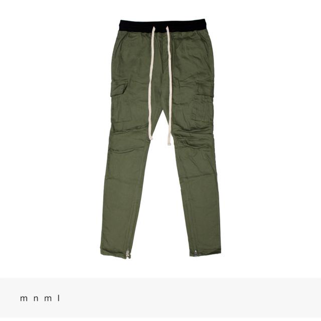 mnml CARGO DRAWCORD PANTS | OLIVE / ミニマル パンツ
