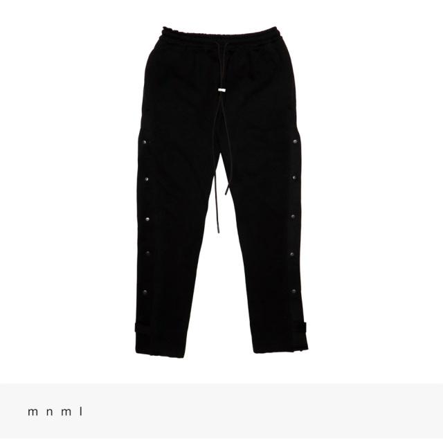 mnml TEAR AWAY SWEATPANTS | BLACK / ミニマル パンツ