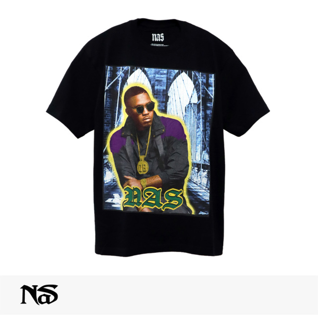 NAS OFFICIAL MERCHANDISE QB TEE / ナズ Tシャツ