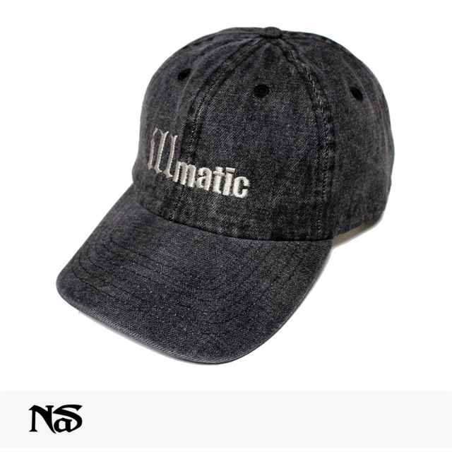 NAS OFFICIAL MERCHANDISE ILLMATIC CAP | WASHED DENIM / ナズ キャップ