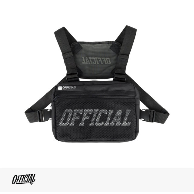 OFFICIAL MELROSE CHEST UTILITY BAG | BLACK / オフィシャル バッグ