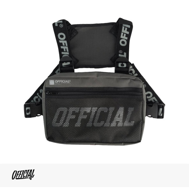 OFFICIAL MELROSE CHEST UTILITY BAG | GRAY / オフィシャル バッグ