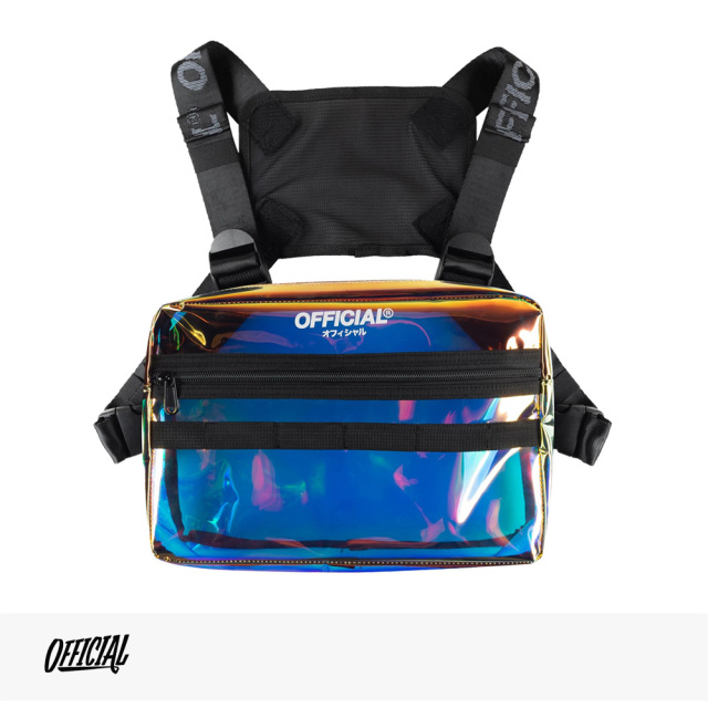 OFFICIAL IRIDESCENT TRANSLUCENT CHEST UTILITY BAG / オフィシャル バッグ