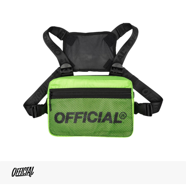 OFFICIAL MELROSE 2.0 CHEST UTILITY BAG | HI-VIS YELLOW / オフィシャル バッグ
