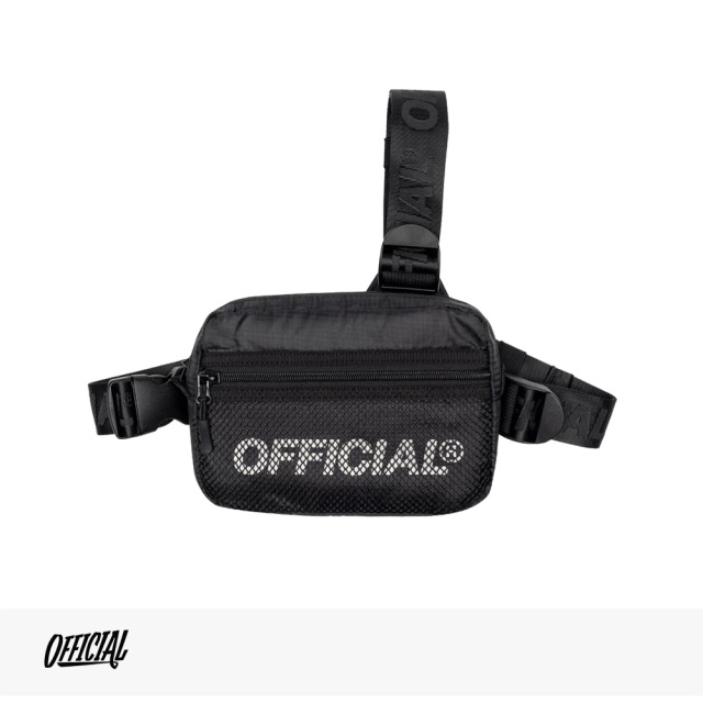 OFFICIAL MELROSE 2.0 TRI-STRAP CHEST UTILITY BAG   BLACK / オフィシャル バッグ
