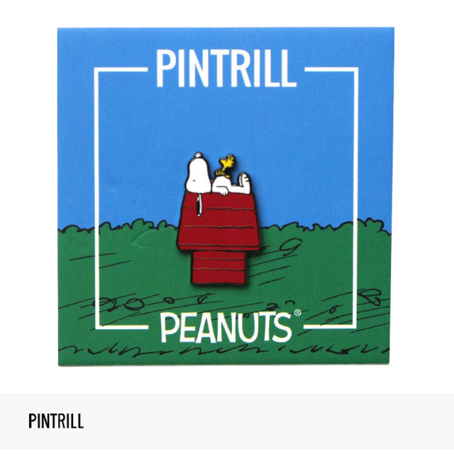 PINTRILL × PEANUTS SNOOPY AND WOODSTOCK HOUSE PIN / ピントリル ピンズ