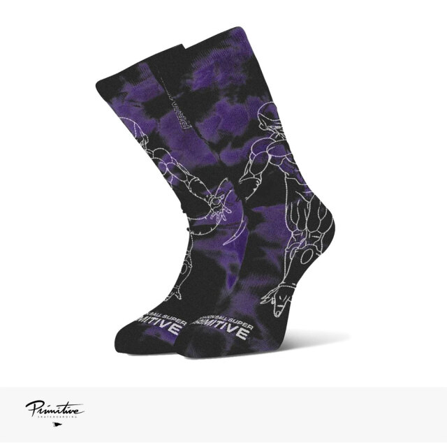 PRIMITIVE × DRAGON BALL SUPER FRIEZA WASHED SOCK / プリミティブ ソックス