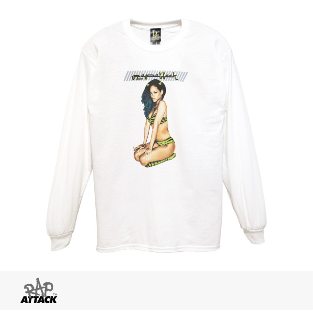 RAP ATTACK RUMANNA 2021 L/S TEE | WHITE / ラップアタック Tシャツ