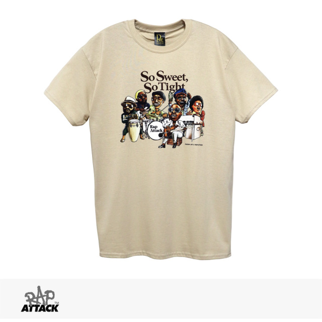 RAP ATTACK × FUCKIN' JAY SO SWEET, SO TIGHT TEE | SAND / ラップアタック Tシャツ