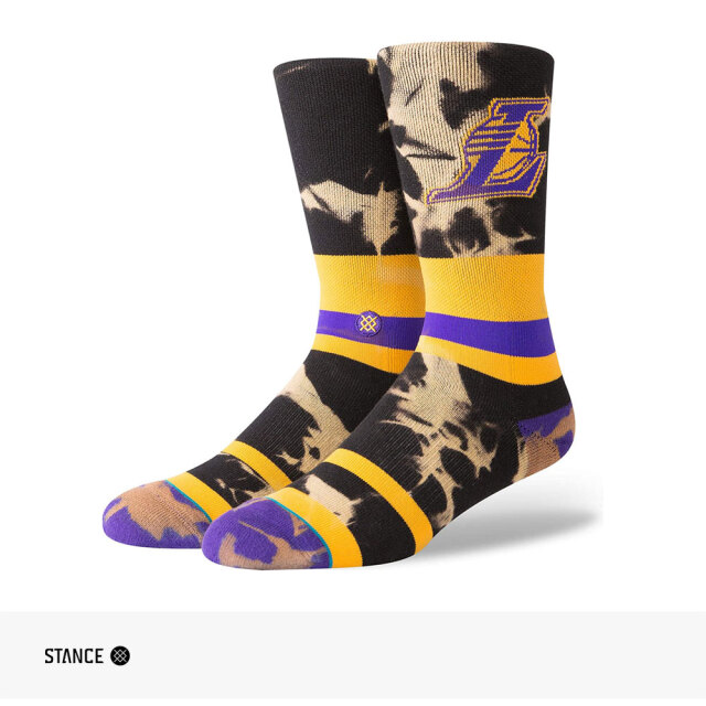 STANCE NBA LAKERS ACID WASH CREW SOCKS / スタンス ソックス