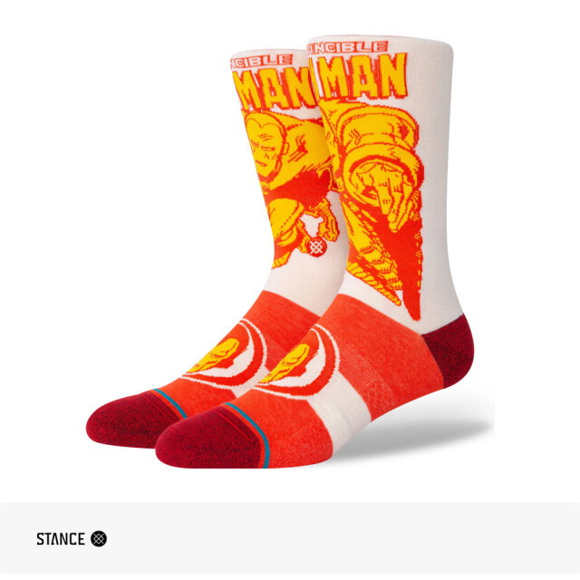 STANCE MARVEL IRON MAN MARQUEE CREW SOCKS / スタンス ソックス