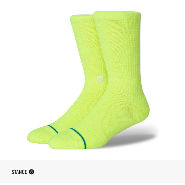 STANCE HYPER CREW SOCKS | NEON YELLOW / スタンス ソックス