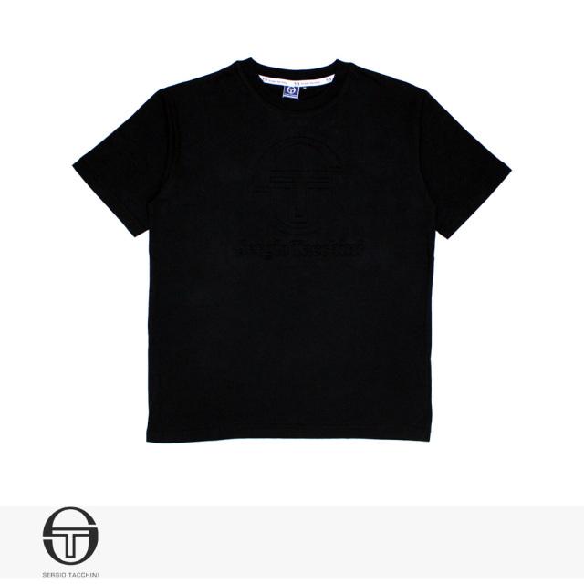 2019 SPRING SERGIO TACCHINI EMBOSS T-SHIRT | BLACK / セルジオタッキーニ Tシャツ