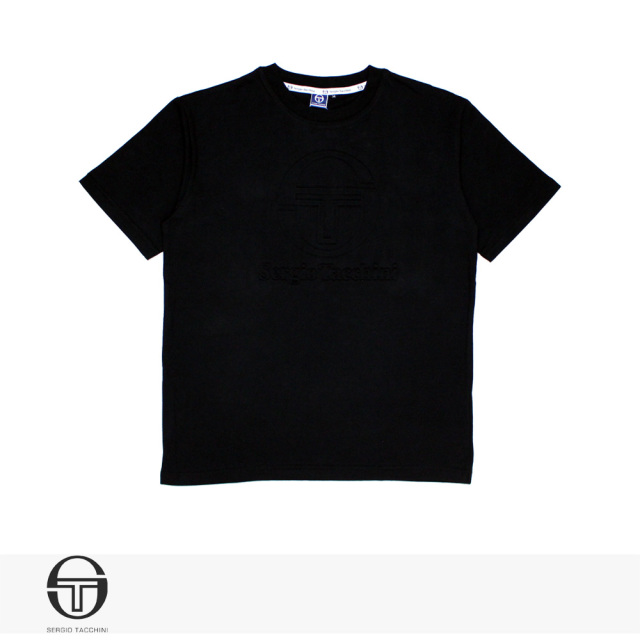 SERGIO TACCHINI EMBOSS T-SHIRT | BLACK / セルジオタッキーニ Tシャツ