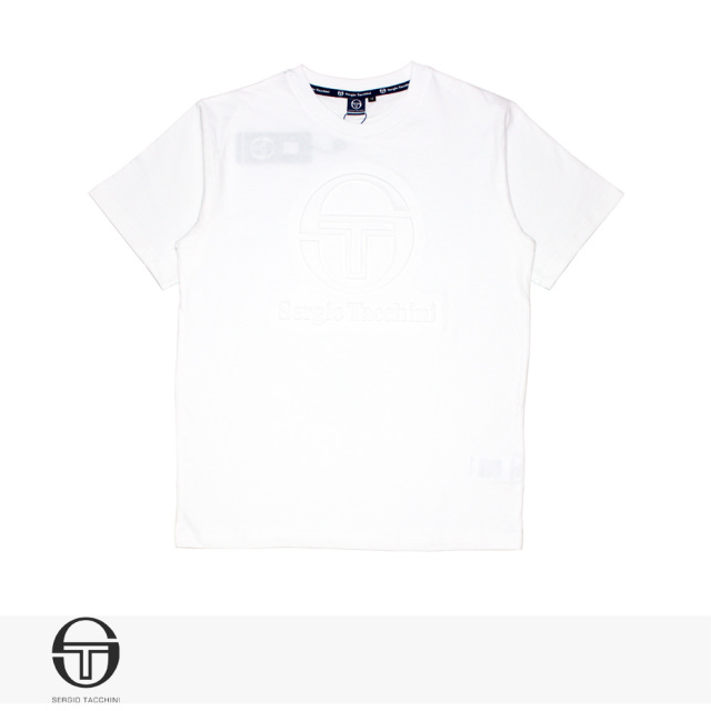 SERGIO TACCHINI EMBOSS T-SHIRT | WHITE / セルジオタッキーニ Tシャツ