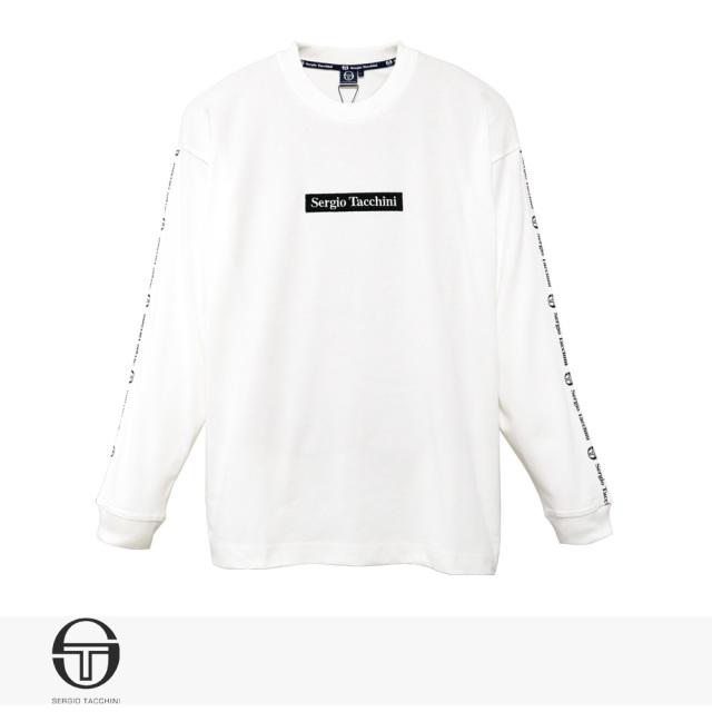 2019 F/W SERGIO TACCHINI BIG SILHOUETTE LOGO LINE LONG T-SHIRT | WHITE / セルジオタッキーニ Tシャツ