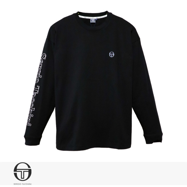 SERGIO TACCHINI ST LOGO LONG T-SHIRT | BLACK / セルジオタッキーニ Tシャツ