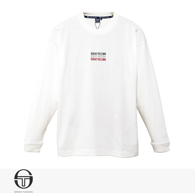 SERGIO TACCHINI ITALIANO ENBROIDERY LONG T-SHIRT | WHITE / セルジオタッキーニ Tシャツ