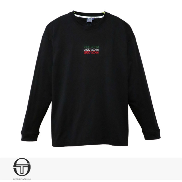 SERGIO TACCHINI ITALIANO ENBROIDERY LONG T-SHIRT | BLACK / セルジオタッキーニ Tシャツ