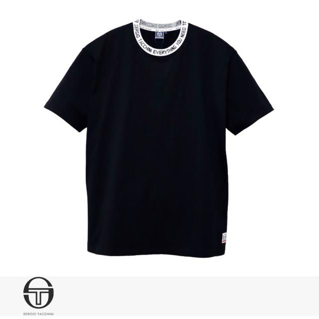 2020 S/S SERGIO TACCHINI LOGO JAQUARD RIB T-SHIRT | BLACK / セルジオタッキーニ Tシャツ