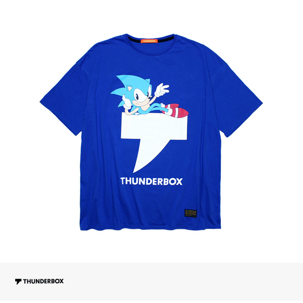 THUNDERBOX × SONIC THE HEDGEHOG T-MARK BIG TEE | BLUE / サンダーボックス Tシャツ