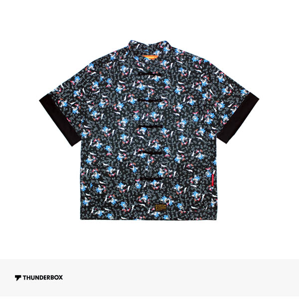 THUNDERBOX × SONIC THE HEDGEHOG KUNG FU SHIRT | BLACK / サンダーボックス シャツ