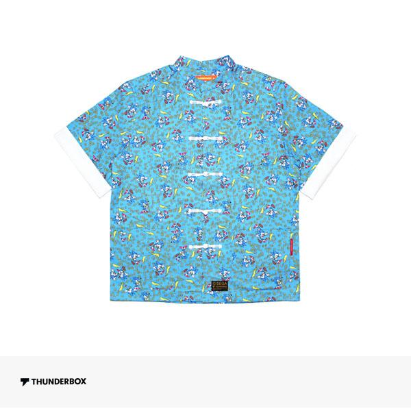 THUNDERBOX × SONIC THE HEDGEHOG KUNG FU SHIRT | BLUE / サンダーボックス シャツ