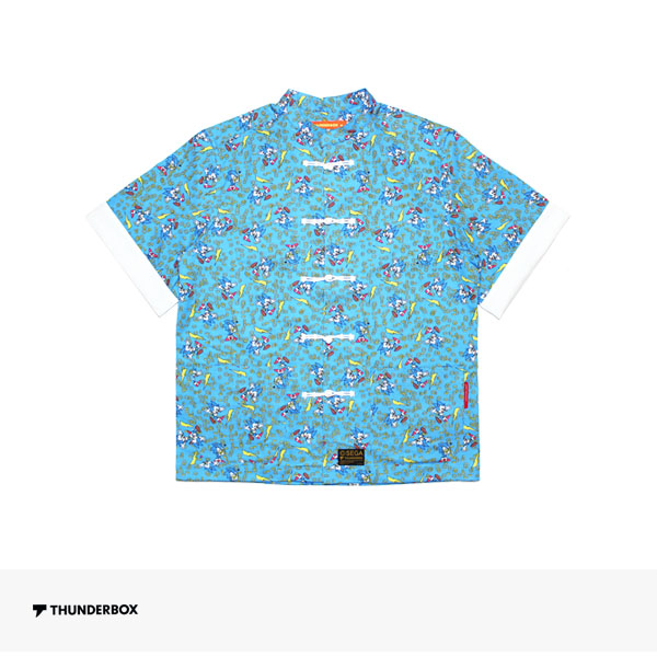 THUNDERBOX × SONIC THE HEDGEHOG KUNG FU SHIRT | BLUE / サンダーボックス シャツ