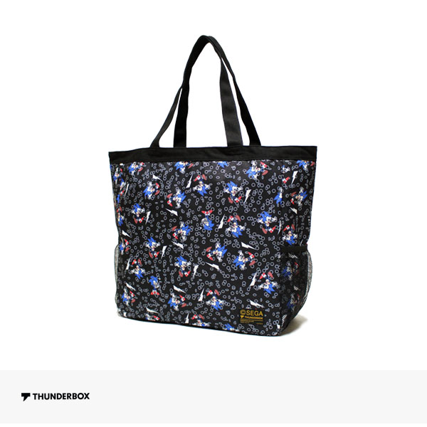 THUNDERBOX × SONIC THE HEDGEHOG TOTE BAG | BLACK / サンダーボックス バッグ
