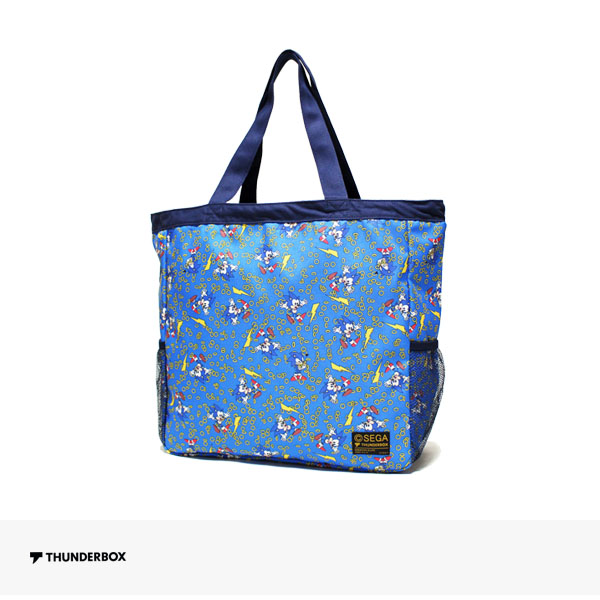 THUNDERBOX × SONIC THE HEDGEHOG TOTE BAG | BLUE / サンダーボックス バッグ