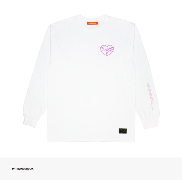 THUNDERBOX × SONIC THE HEDGEHOG SONIC & AMY L/S TEE   WHITE / サンダーボックス Tシャツ