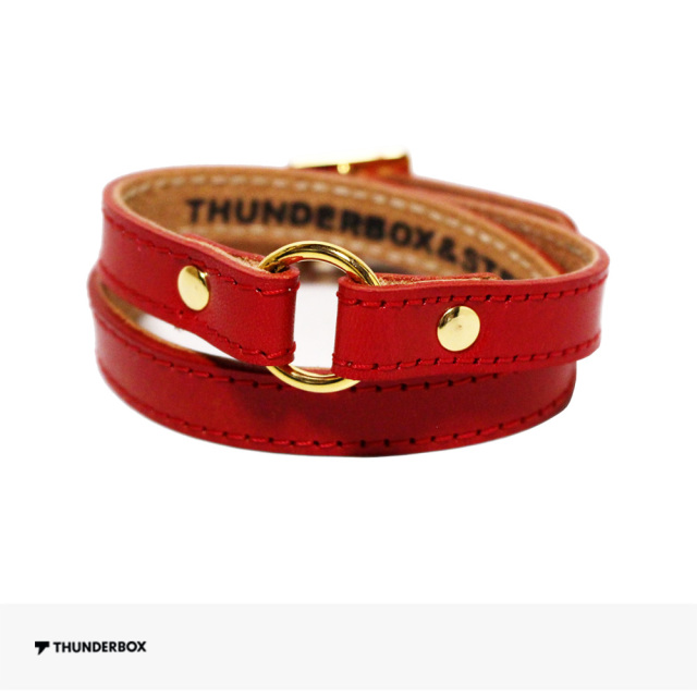 2019 SPRING THUNDERBOX BGM BRACELET | RED / サンダーボックス ブレスレット