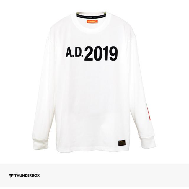 THUNDERBOX A.D.2019 L/S TEE | WHITE / サンダーボックス Tシャツ