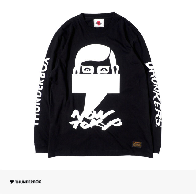THUNDERBOX × PUNK DRUNKERS NOW TOKYO L/S TEE | BLACK / サンダーボックス Tシャツ