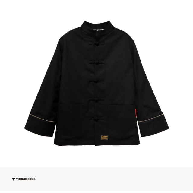 THUNDERBOX 雷々 KUNG FU JKT   BLACK / サンダーボックス ジャケット