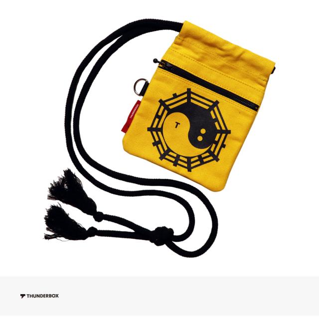 THUNDERBOX 雷々 KUNG FU 巾着 | YELLOW / サンダーボックス バッグ