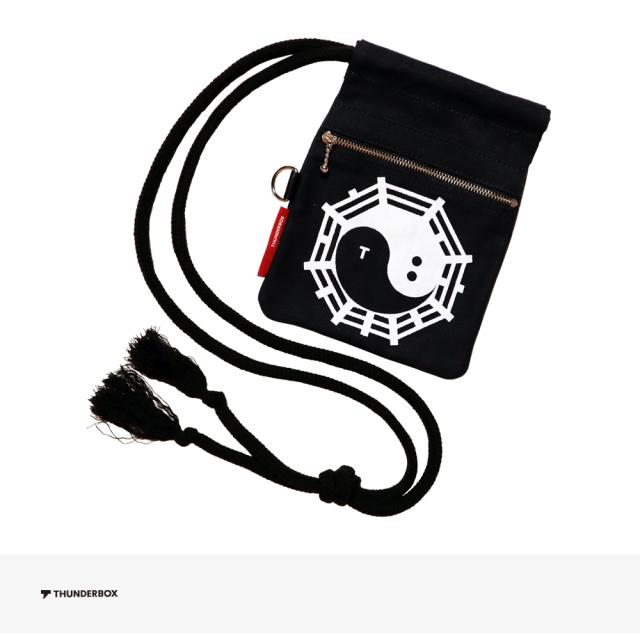 THUNDERBOX 雷々 KUNG FU 巾着 | BLACK / サンダーボックス バッグ