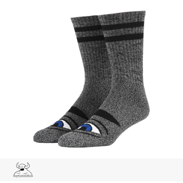 TOY MACHINE SECT EYE HEATHER SOCKS | GREY / トイマシーン ソックス