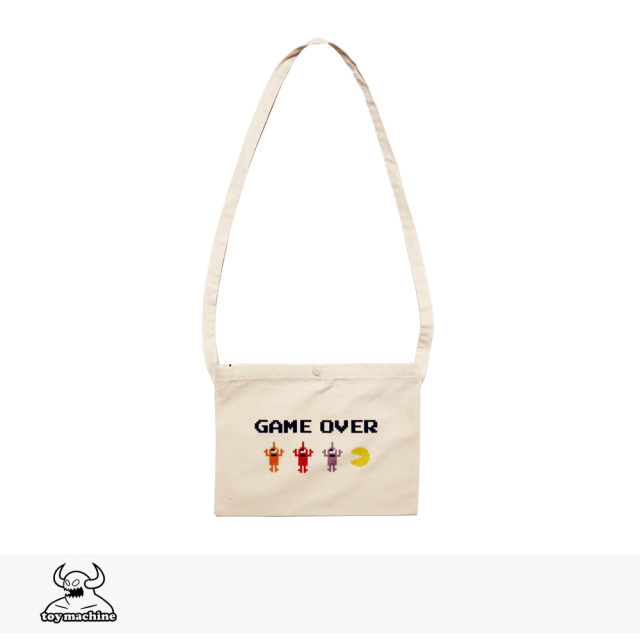 TOY MACHINE × PAC-MAN GAMEOVER SECT BAG | NATURAL WHITE / トイマシーン バッグ