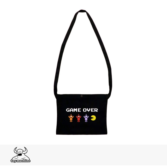 TOY MACHINE × PAC-MAN GAMEOVER SECT BAG | BLACK / トイマシーン バッグ