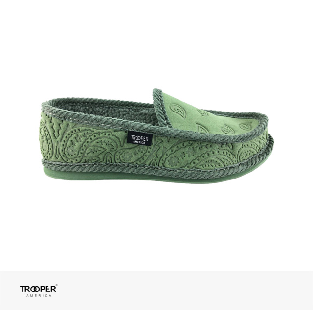 TROOPER AMERICA SLIP ON BANDANA NEWBUCK FAUX FUR | OLIVE / トゥルーパーアメリカ スリッポン