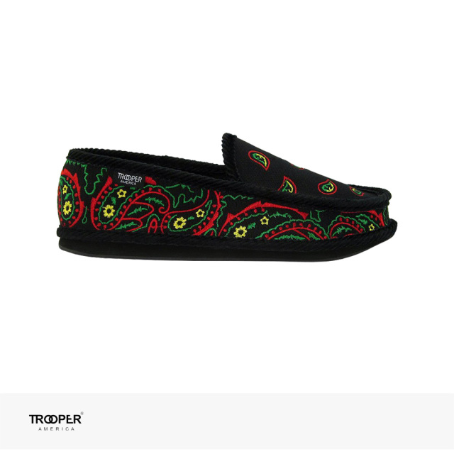 TROOPER AMERICA SLIP ON BANDANA EMBROIDERY | ROOSTER / トゥルーパーアメリカ スリッポン