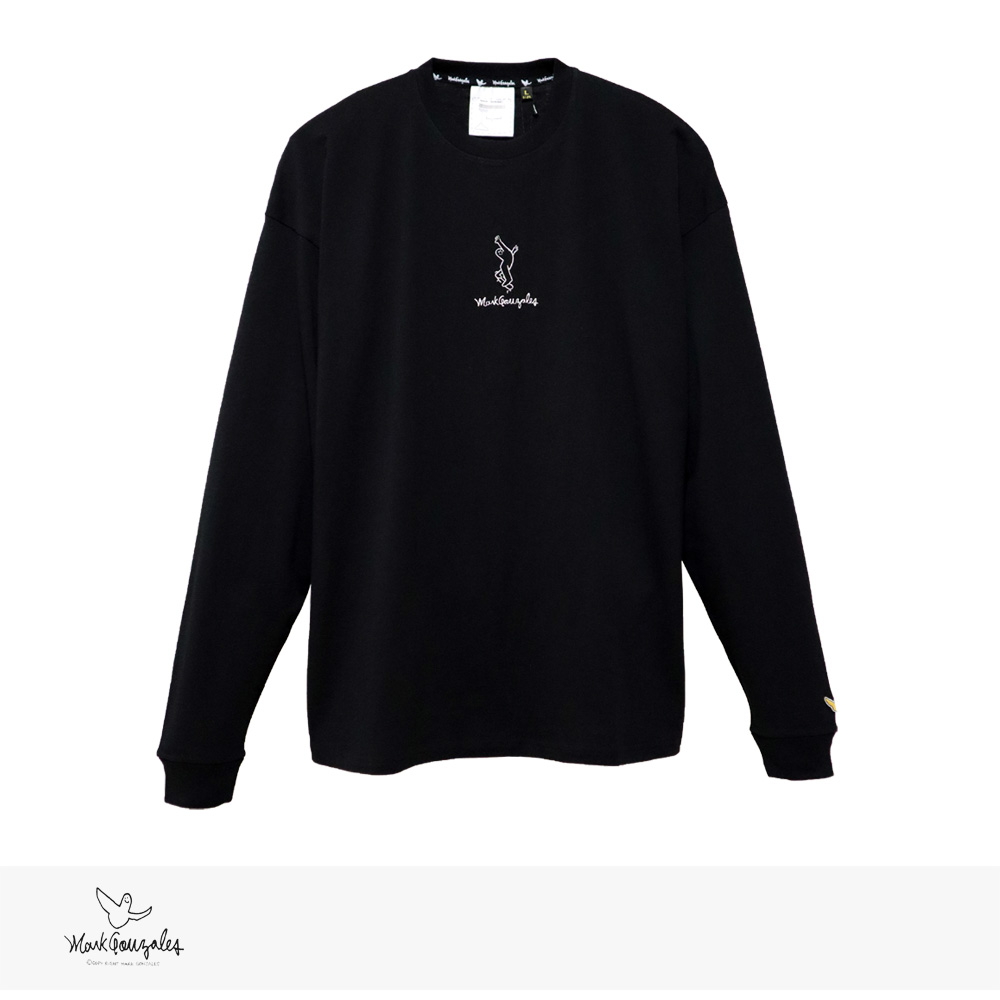 2020 S/S MARK GONZALES RIDE ON SK8 EMBROIDERY L/S BIG TEE | BLACK / マークゴンザレス Tシャツ